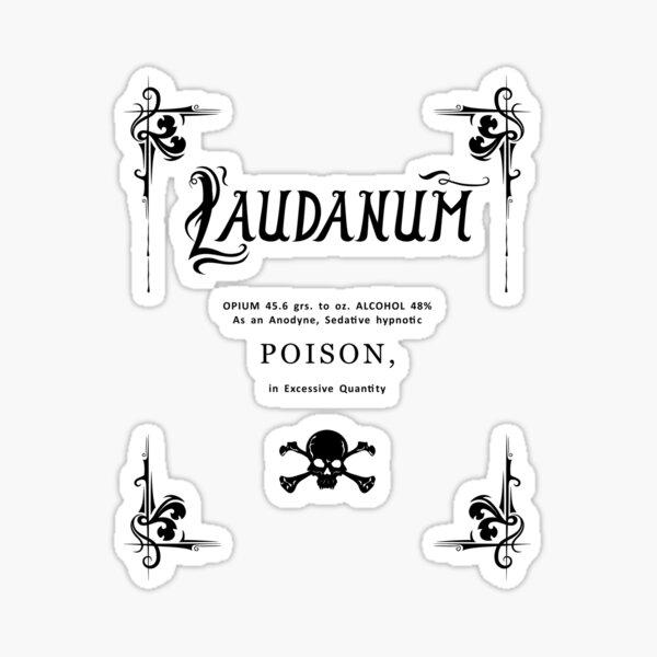 Laudanum Poison Black Transparent Sticker