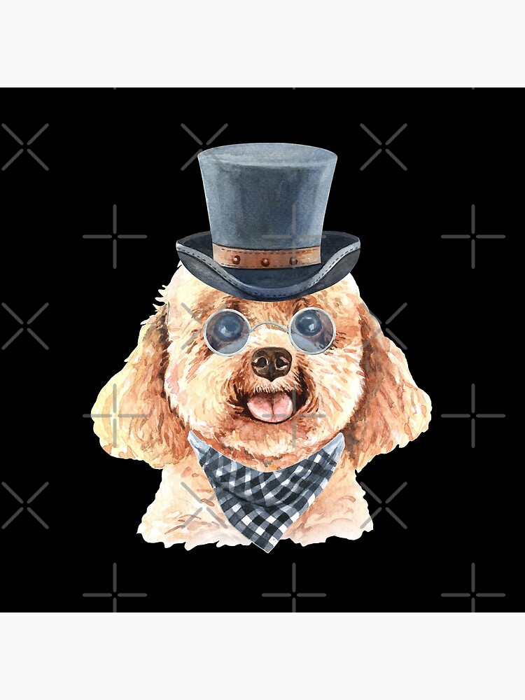 Watercolor  Poodle Top Hat by dog-gifts