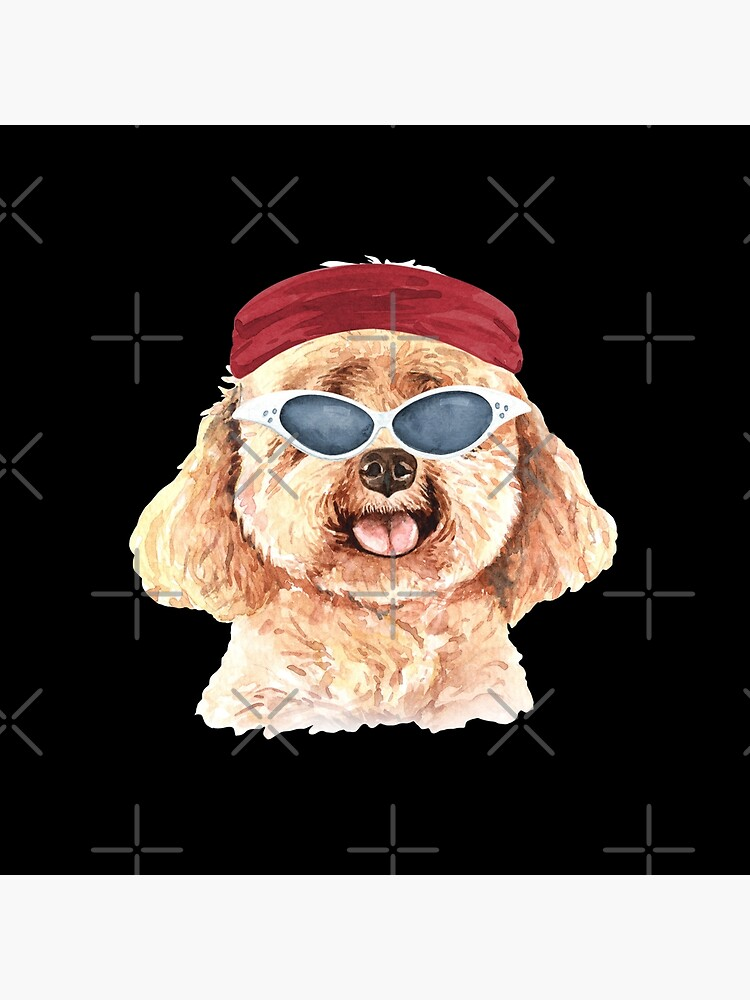 Watercolor  Poodle shades,gym,exercise, by dog-gifts