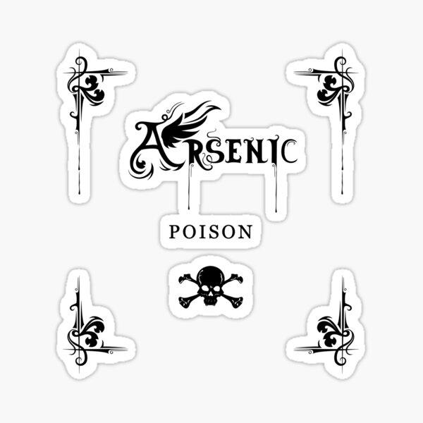 Arsenic Poison Black Transparent Sticker