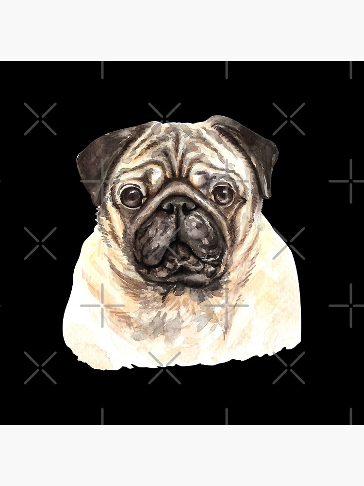 Watercolor  Pug Dog by dog-gifts