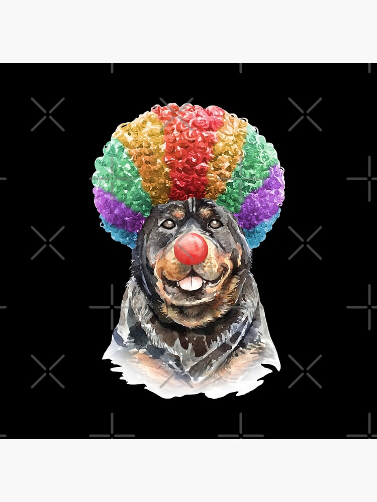 Watercolor  Rottweiler Clown by dog-gifts