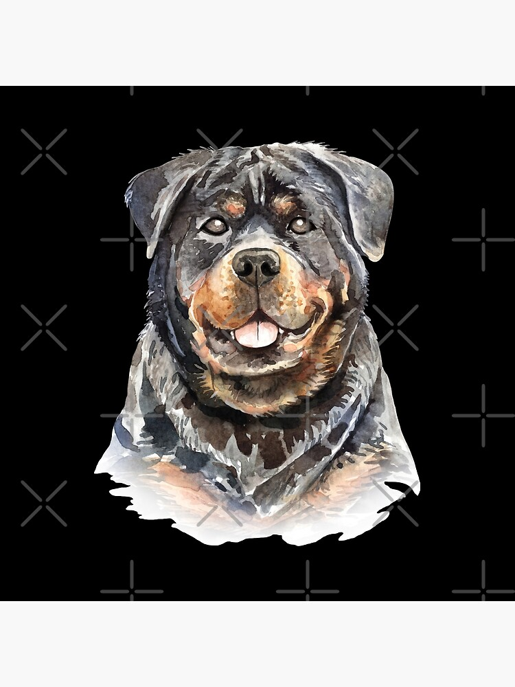 Watercolor  Rottweiler Dog by dog-gifts