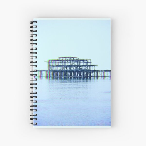 Brighton Pier Ruin Spiral Notebook