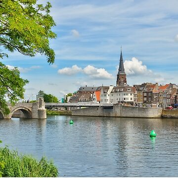 Maastricht view from river Maas by skyfish