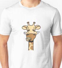 Giraffe eating comic hunger funny cool T-Shirt