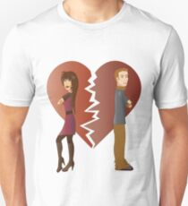 Couple with broken heart  T-Shirt