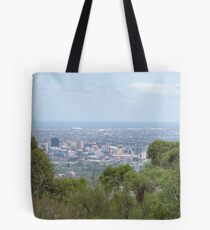 Adelaide City & Coastline after tropical deluge. From Mt. Osmond. S.A. Tote Bag