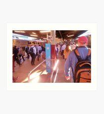 Peak Hour at Central Station  Art Print