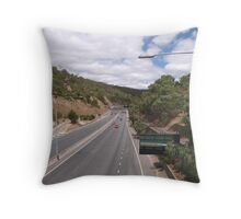 Looking down Freeway to City & Suburbs, Adelaide Hills. S.A. Throw Pillow