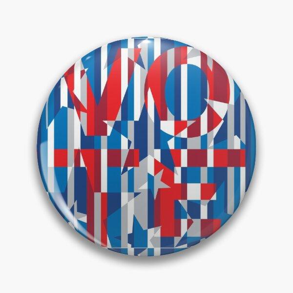 CAMO • VOTE blue Pin