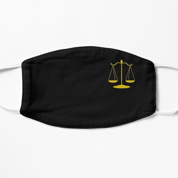 Scale of Justice Lawyer Mask Law student gift RBG mask Supreme court Flat Mask