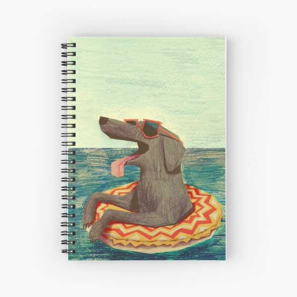Relaxed Doggo Spiral Notebook