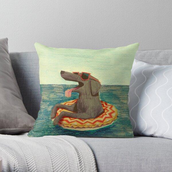 Relaxed Doggo Throw Pillow