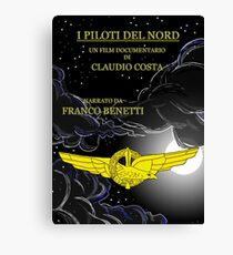 """MOVIE POSTER 18 """"I piloti del nord"""" Canvas Print"""