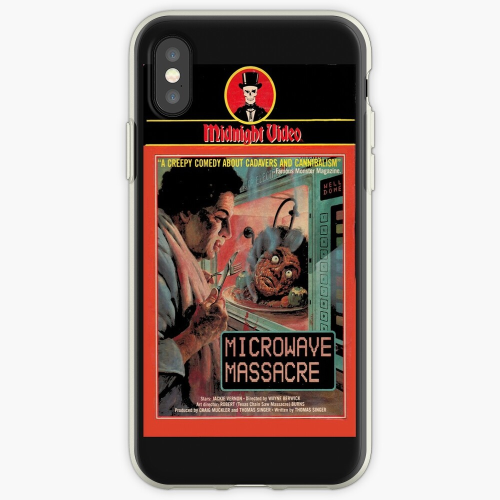 microwave cellphone massacre iPhone Case & Cover