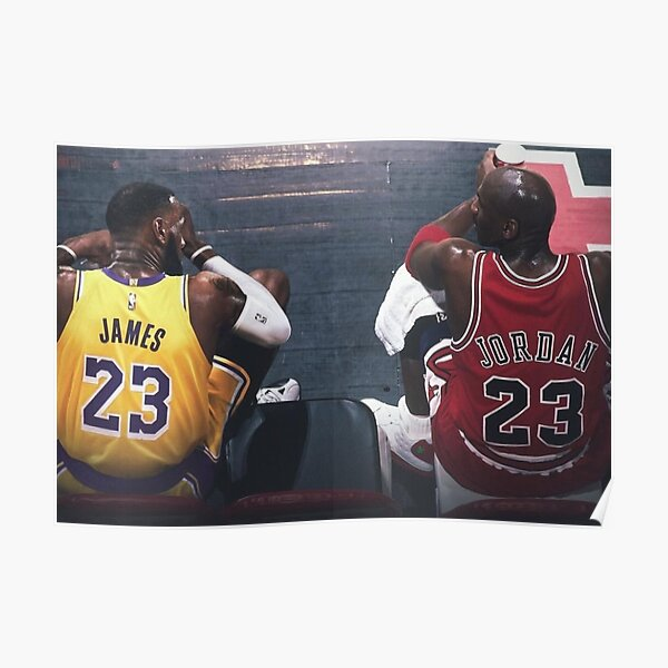 Lebron James Michael Jordan Poster Poster