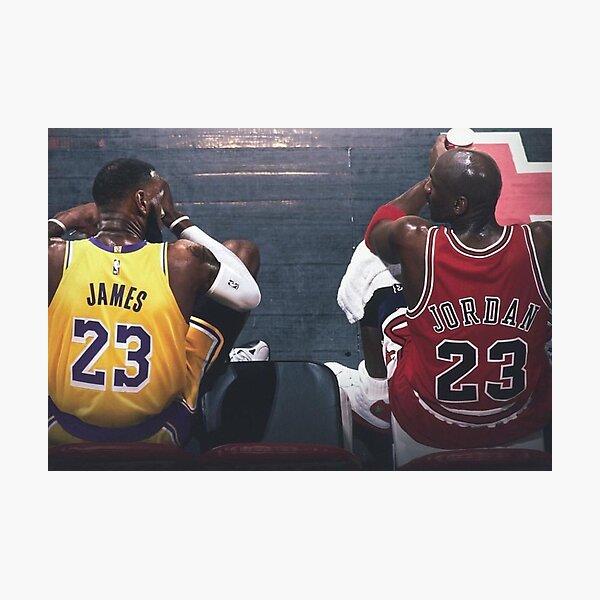 Lebron James Michael Jordan Poster Impression photo
