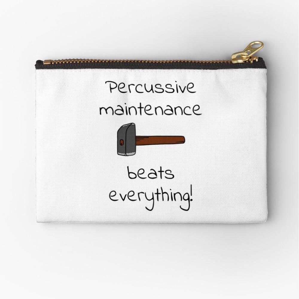 percussive maintenance Zipper Pouch