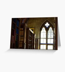 Gothic Library Greeting Card