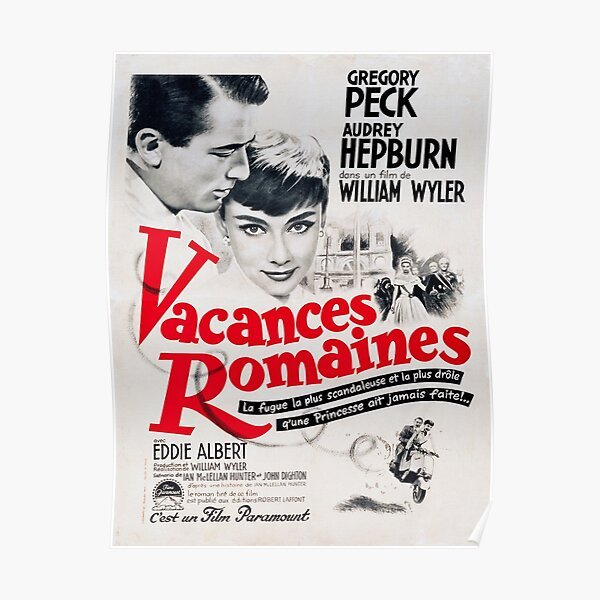 Roman Holiday - French Film Poster Poster