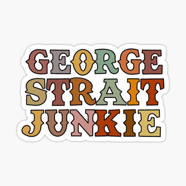 George strait junkie Sticker
