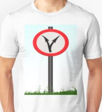 Fork in the road - decisions ahead. T-Shirt