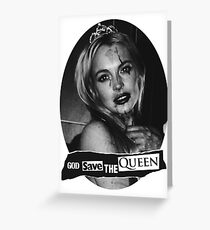 Lindsay Lohan 'God Save the Queen' Greeting Card