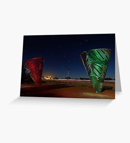Water Dance Sculptures Western Australia  Greeting Card
