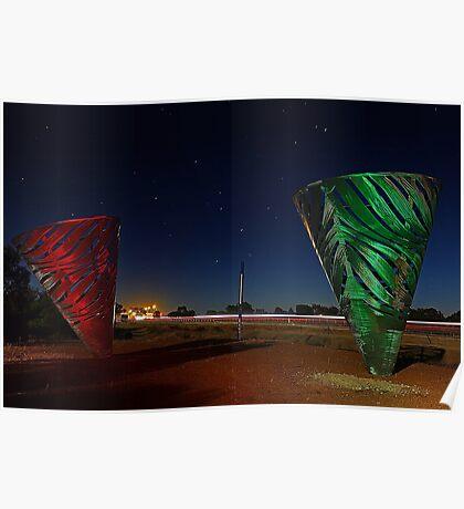 Water Dance Sculptures Western Australia  Poster