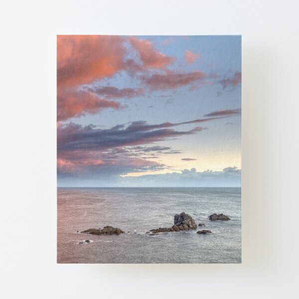 Storm clouds gathering over Lizard Point, Cornwall Canvas Mounted Print