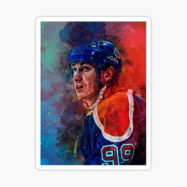 Gretzky Oilers Mischtechnik Sticker