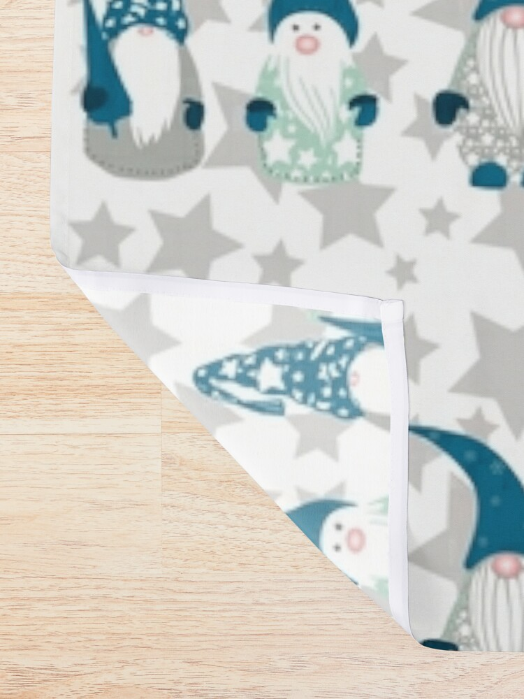 Alternate view of Trio of Gnomes with stars Shower Curtain