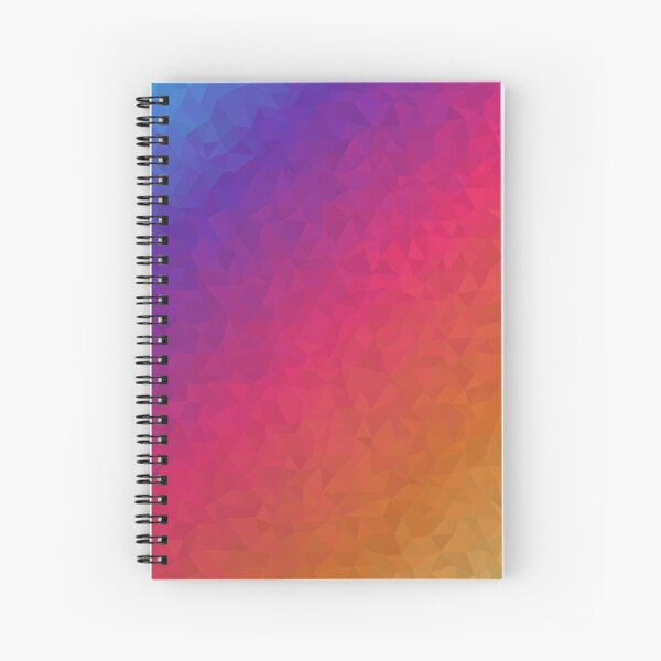 Polygon Blue/Red/Yellow Spiral Notebook