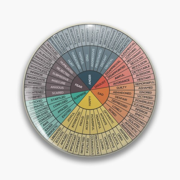 Wheel Of Emotions Pin