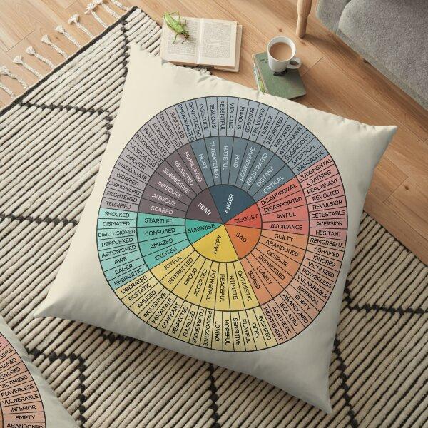 Wheel Of Emotions Floor Pillow