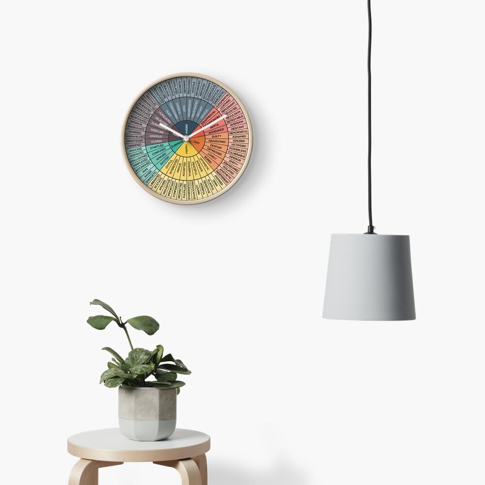 Wheel Of Emotions Clock