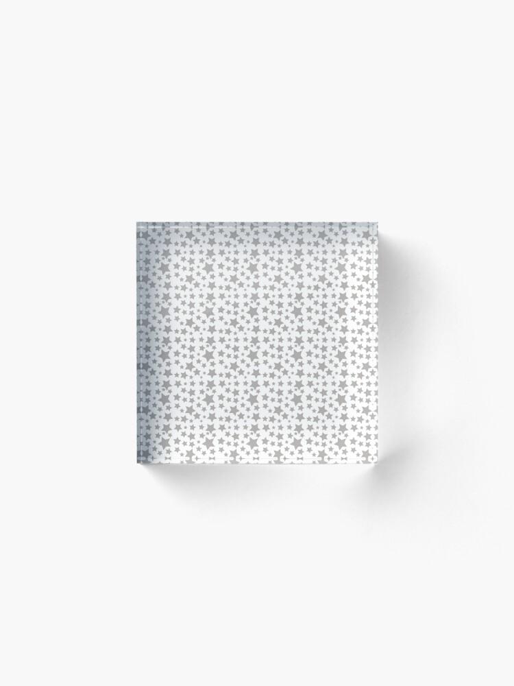 Alternate view of Grey Starry Sky Acrylic Block
