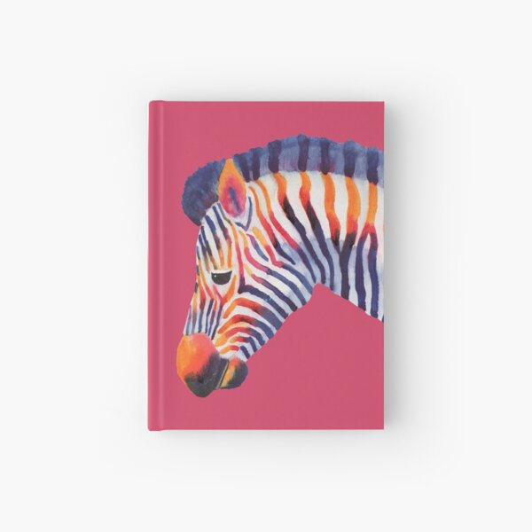 Colorful Zebra Hardcover Journal