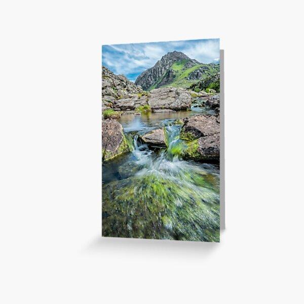 Tryfan Mountain Stream  Greeting Card