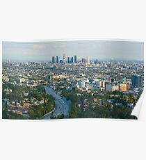 Los Angeles Skyline and Los Angeles Basin Panorama Poster