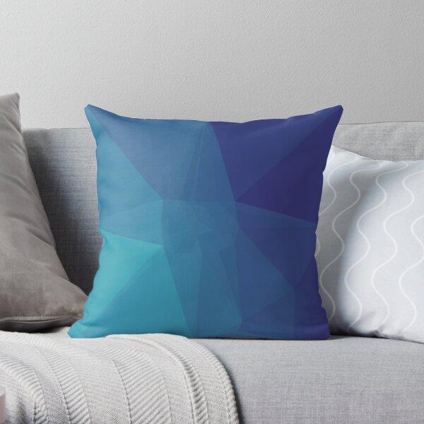 Polygon Blue Throw Pillow