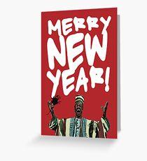 Merry New Year! (Beef Jerky Time) Grußkarte