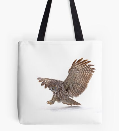 Once a pounce a time - Great Grey Owl Tote Bag