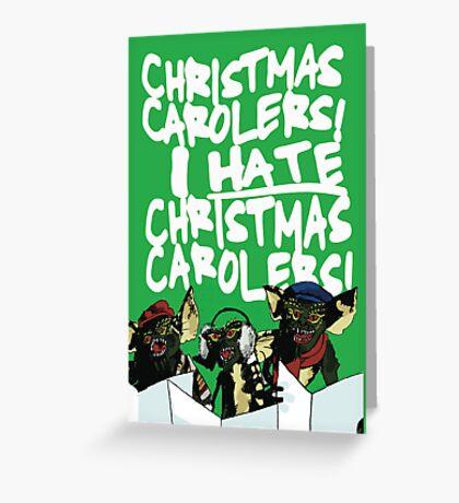 Gremlins alternative Christmas card Greeting Card