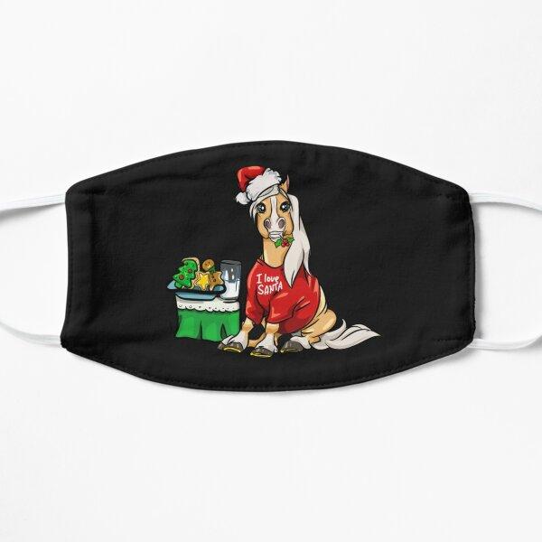 Haflinger Pferd Pferde Weihnachtsgeschenk Maske T-Shirt Flache Maske