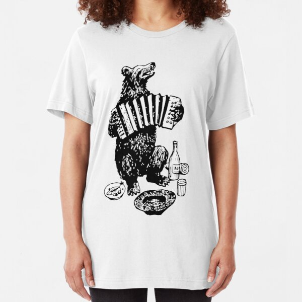 Misha the accordion player Slim Fit T-Shirt