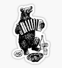 Misha the accordion player Sticker