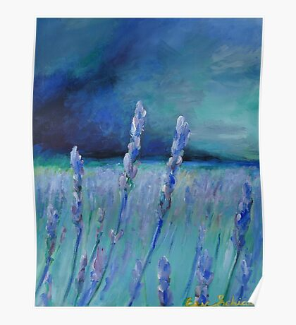 Abstract Lavender Field Poster