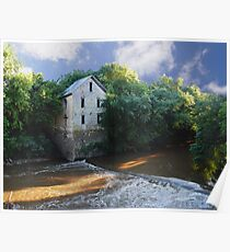 Antiquated Grist Mill Poster